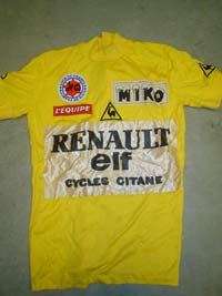 It is interesting to note that LeMond didn t race a Tour de France until  1984… so the yellow jersey pictured was b55a9a5a7